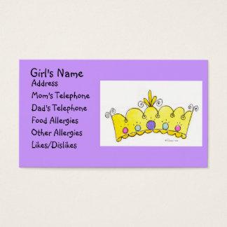 Princess Crown - Little Girls Card