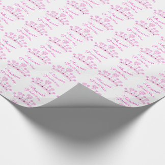 Princess Crown Personalized Wrapping Paper