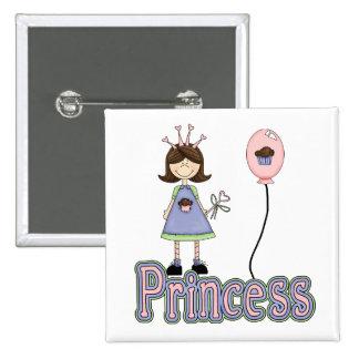 Princess Cupcake Birthday Pin Badge
