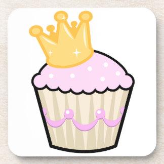 Princess Cupcake Beverage Coasters