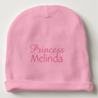 Princess custom name infant hat baby beanie