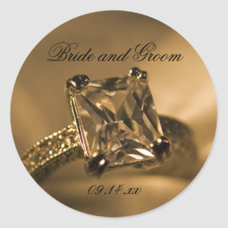 Princess Cut Diamond Ring Wedding Favor Tags