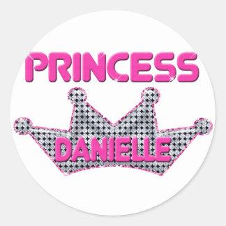 Princess Danielle Classic Round Sticker