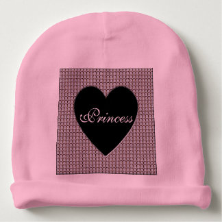 Princess Diamonds Heart Baby Beanie