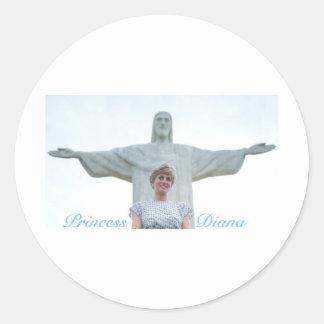 Princess Diana Brazil Classic Round Sticker