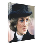 Princess Diana France 1988 Stretched Canvas Print