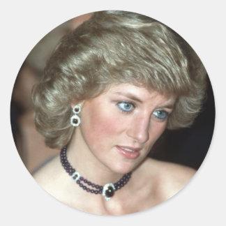Princess Diana Germany 1987 Round Sticker