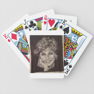 PRINCESS DIANA INK PEN PORTRAIT BICYCLE PLAYING CARDS