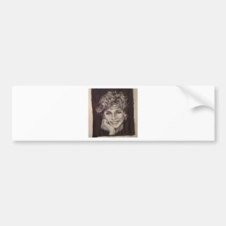 PRINCESS DIANA INK PEN PORTRAIT BUMPER STICKER