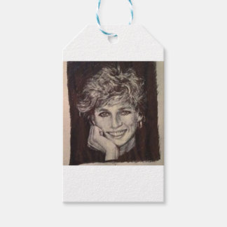 PRINCESS DIANA INK PEN PORTRAIT GIFT TAGS