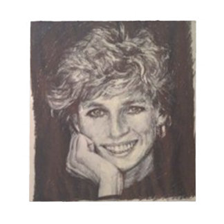 PRINCESS DIANA INK PEN PORTRAIT NOTEPAD