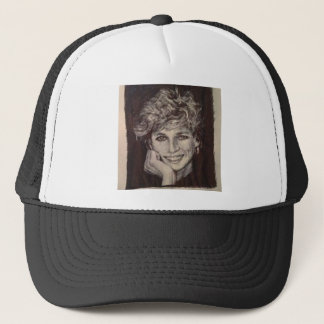 PRINCESS DIANA INK PEN PORTRAIT TRUCKER HAT