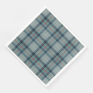 Princess Diana Memorial Tartan Paper Dinner Napkin