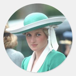 Princess Diana Spain 1987 Round Sticker