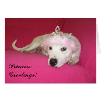 Princess Dog Greeting Card