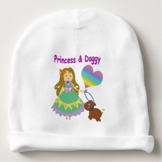 Princess & Doggy Baby Beanie