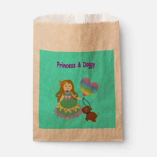 Princess & Doggy Favour Bag