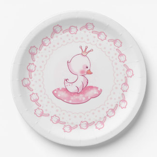 Princess Duck Paper Plate
