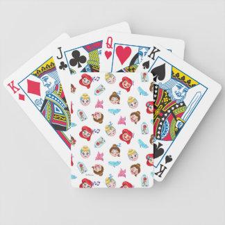Princess Emoji Pattern Bicycle Playing Cards