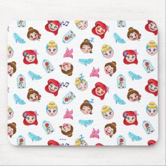 Princess Emoji Pattern Mouse Pad