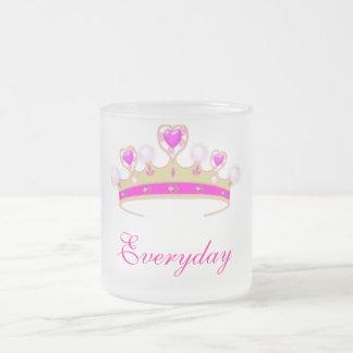 Princess Everyday 10 Oz Frosted Glass Coffee Mug