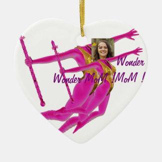 Princess Fairy Wand, Pink Fushia - with YOUR Pho Ceramic Heart Ornament