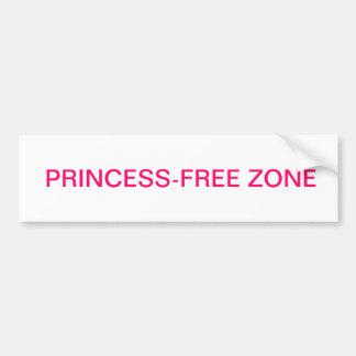 Princess-free Zone Bumper Sticker