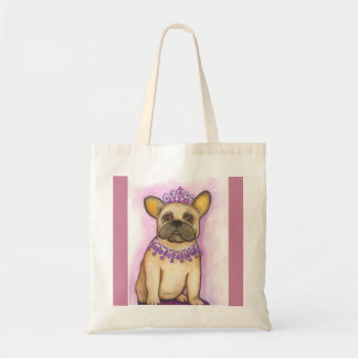 Princess French Bulldog tote