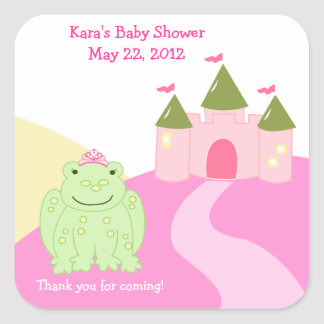 Princess Frog Fairytale SQUARE Favor Sticker