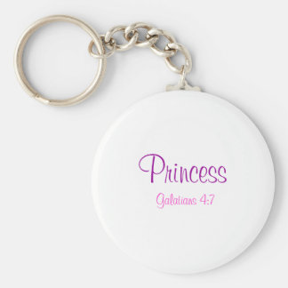 Princess, Galatians 4:7 Basic Round Button Keychain