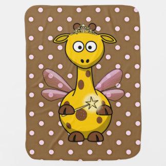 Princess giraffe fairy baby blanket