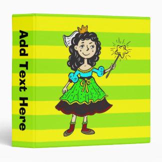 Princess Girl Vinyl Binders
