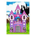 "Princess & Heart Knights Castle Scene RSVP Card 3.5"" X 5"" Invitation Card"