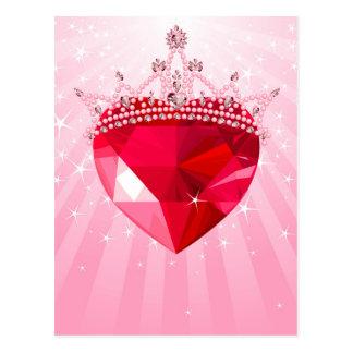 Princess heart postcard
