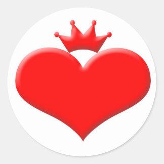 Princess heart round sticker