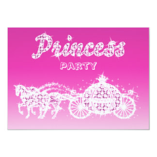 "Princess Horses & Carriage Birthday Party 4.5"" X 6.25"" Invitation Card"