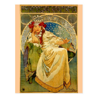 Princess Hyacinth by Mucha Postcard