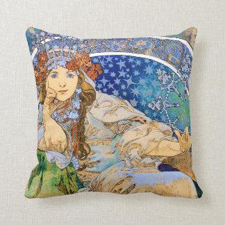 Princess Hyacinth Vintage Theater Advertisement Throw Pillow
