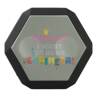 Princess  I want to be an Engnineer Z2yb2 Black Bluetooth Speaker