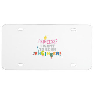 Princess  I want to be an Engnineer Z2yb2 License Plate