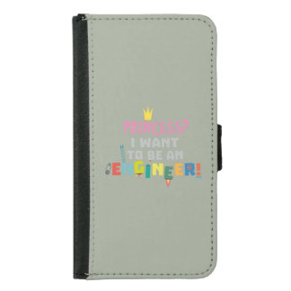 Princess  I want to be an Engnineer Z2yb2 Samsung Galaxy S5 Wallet Case