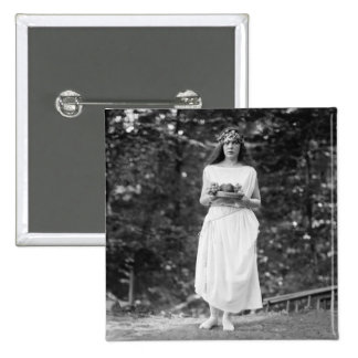 Princess Ida Cantacuzene: 1922 2 Inch Square Button