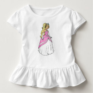 Princess in Pink Dress Toddler Ruffle Tee
