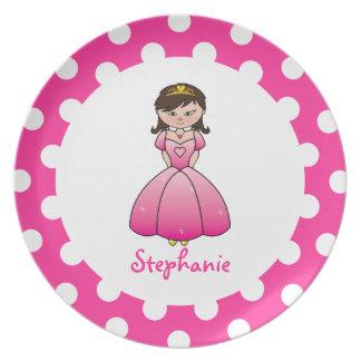 Princess in Pink Kids Plate