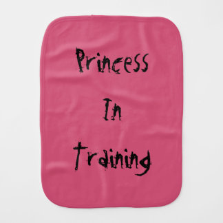 Princess In Training Burp cloth