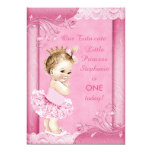 Princess in Tutu Baby 1st Birthday Faux Lace