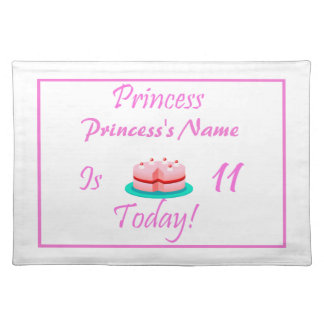 Princess is 11 Today Placemats