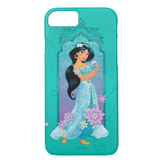 Princess Jasmine Floral Frame iPhone 8/7 Case