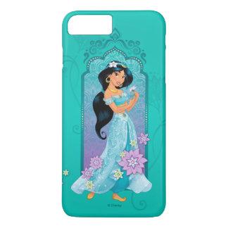 Princess Jasmine Floral Frame iPhone 8 Plus/7 Plus Case