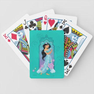Princess Jasmine Floral Frame Poker Deck